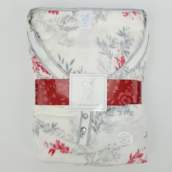 e1cc95d9b6 Adonna Sleepwear Soft Fleece Ivory Pajama Set XL